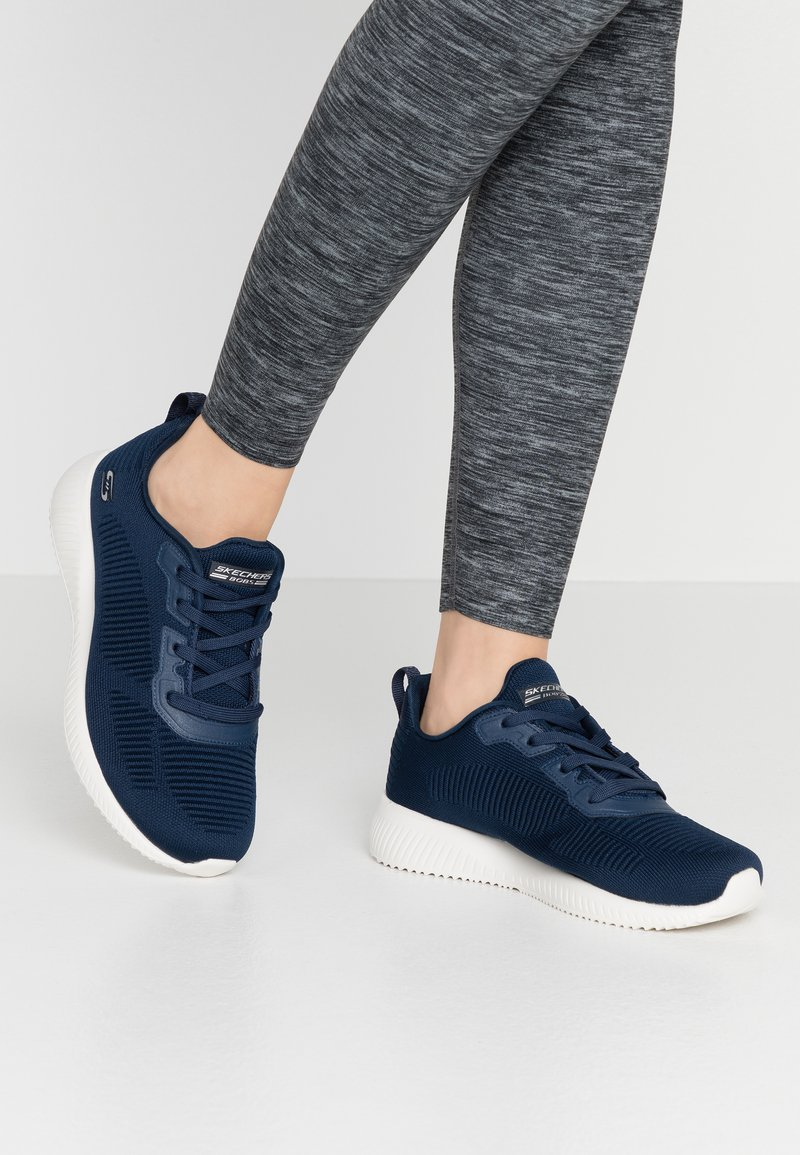 Skechers Wide Fit - BOBS SQUAD - Sneakers laag - navy
