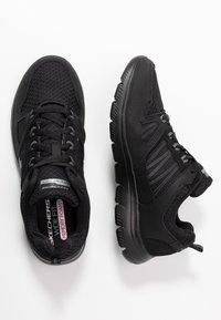 Skechers Wide Fit - SUMMITS WIDE FIT - Sneakers laag - black - 3