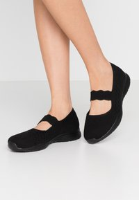 Skechers Wide Fit - SEAGER - Ankle strap ballet pumps - black - 0