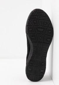 Skechers Wide Fit - SEAGER - Ankle strap ballet pumps - black - 6