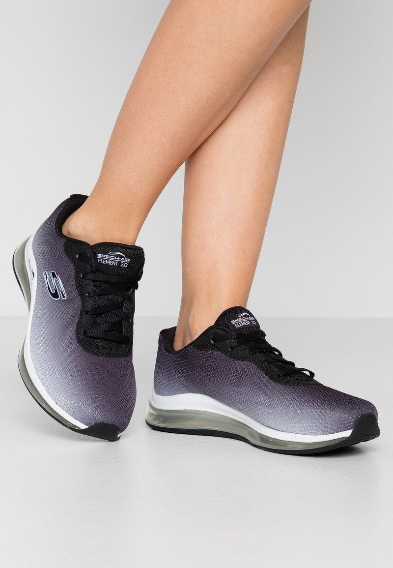 Skechers Wide Fit - SKECH-AIR ELEMENT 2.0 - Zapatillas - black/white