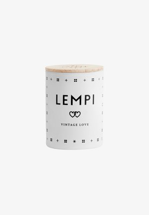 SCENTED MINI CANDLE 55G - Duftlys - lempi white/black