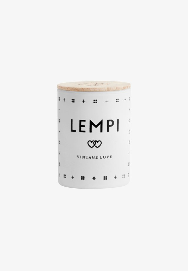 SCENTED MINI CANDLE 55G - Scented candle - lempi white/black