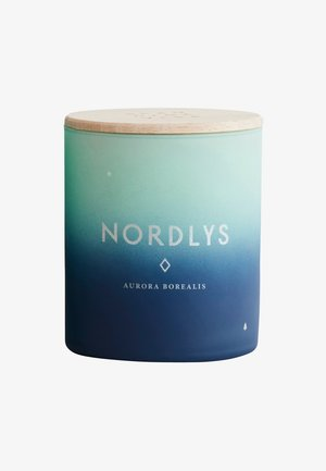 SCENTED CANDLE 190G - Scented candle - nordlys green/blue