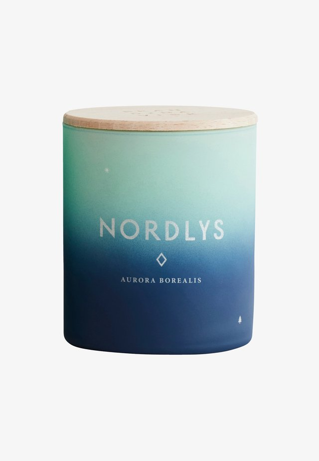 SCENTED CANDLE 190G - Geurkaars - nordlys green/blue