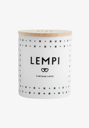 SCENTED CANDLE 190G - Geurkaars - lempi white/black
