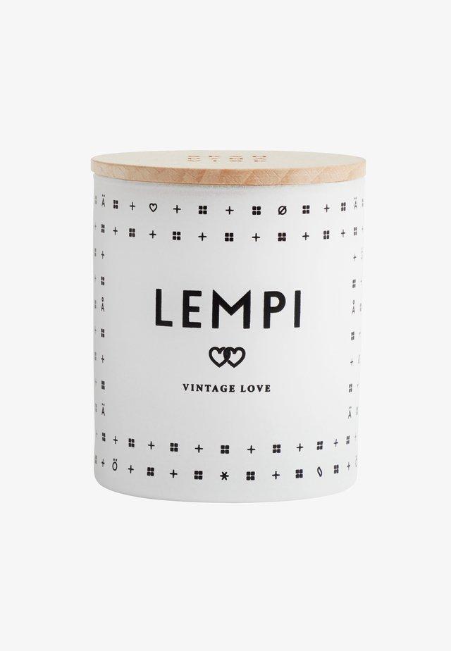 SCENTED CANDLE 190G - Bougie parfumée - lempi white/black