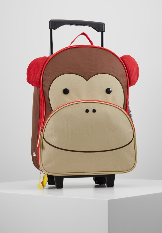 ZOO TROLLEY MONKEY - Wheeled suitcase - brown