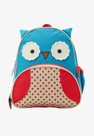 ZOO PACK OWL - Batoh - blue/red