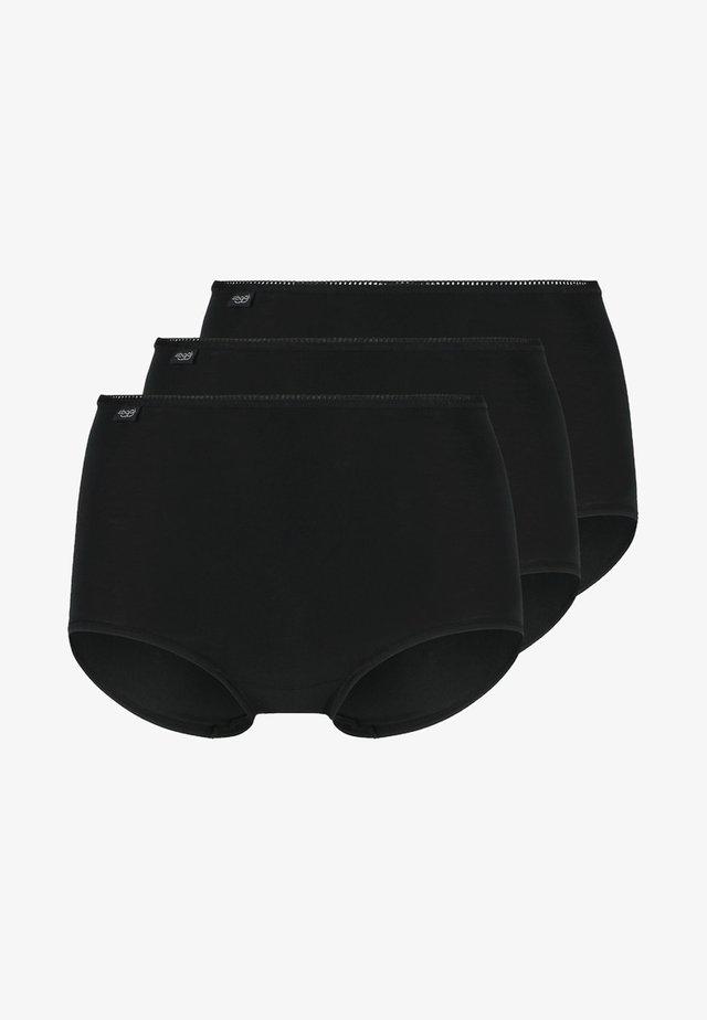 24/7 3 PACK - Panties - black