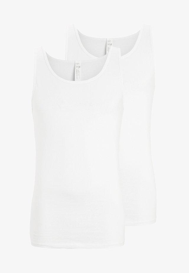24/7 2 PACK - Unterhemd/-shirt - white