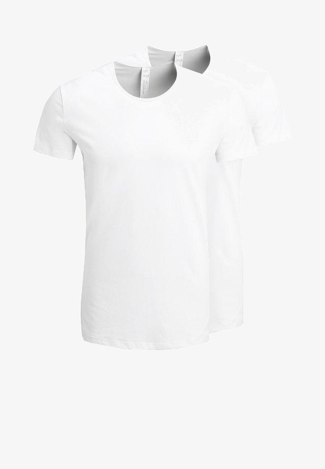 24/7 O-NECK 2 PACK - Maglietta intima - white