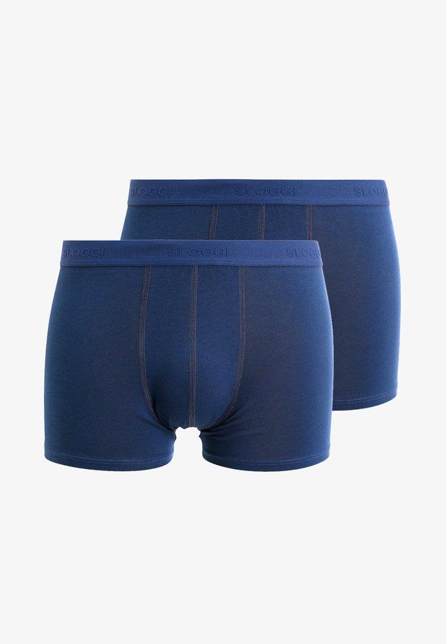 SLIM 24/7 2 PACK - Pants - midnight blue