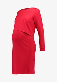 Slacks & Co. - ASSYMETRIC LAYER DRESS - Žerzejové šaty - red - 5