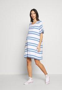 Slacks & Co. - VERONIKA - Jersey dress - sky blue/white - 0