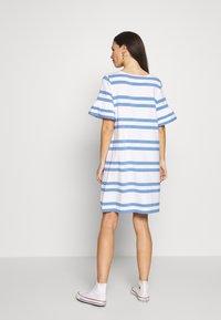 Slacks & Co. - VERONIKA - Jersey dress - sky blue/white - 2