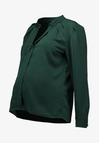 Slacks & Co. - PUFF SHOULDER V NECK BLOUSE - Pusero - emerald green - 3