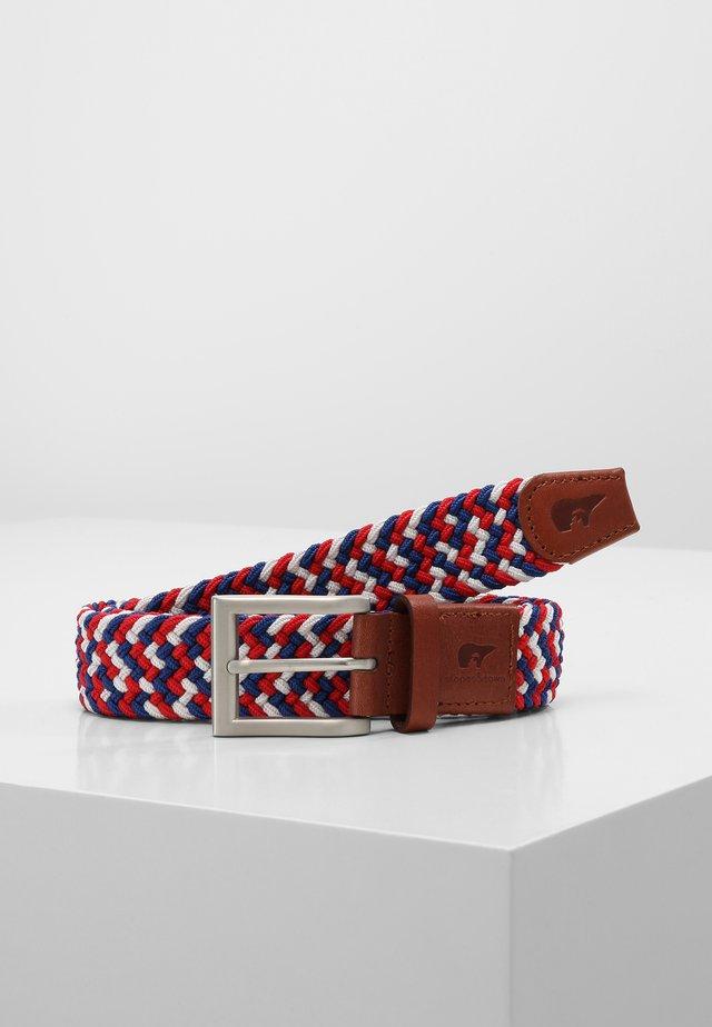 Braided belt - blue/white/red