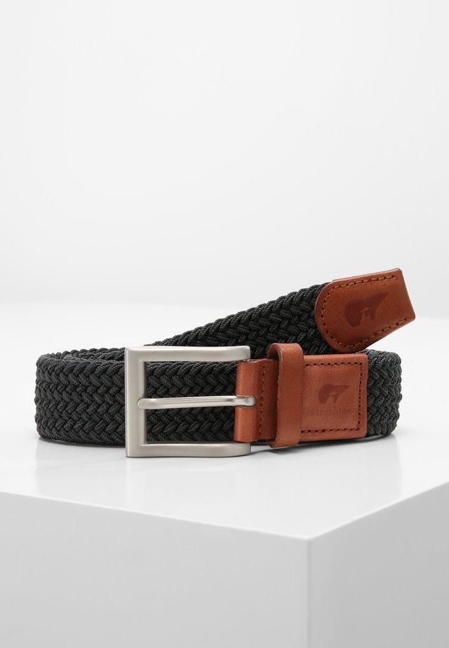 Braided belt - grey