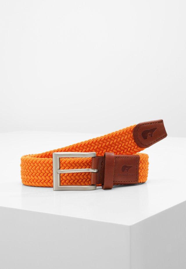 Braided belt - orange