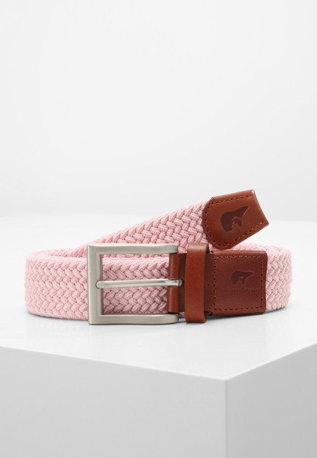 Braided belt - pink