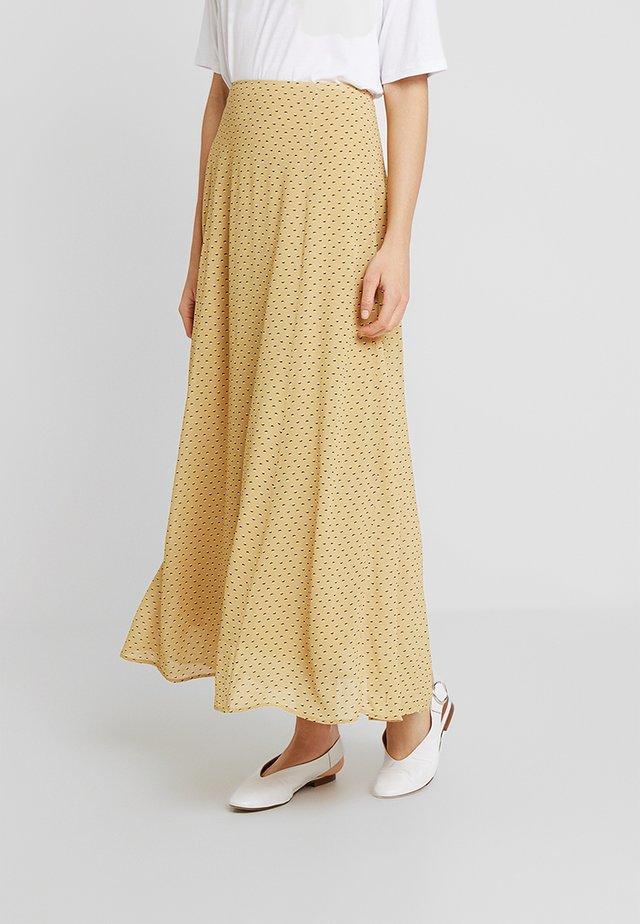 AILEEN - Maxi skirt - yellow