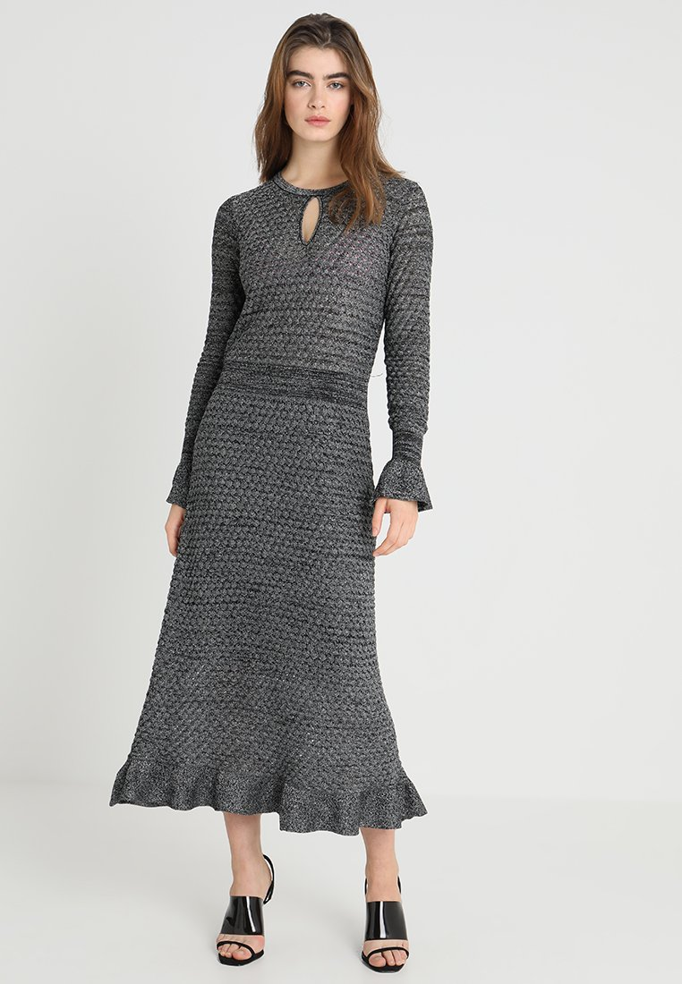 Storm & Marie - ELENA - Długa sukienka - black/silver