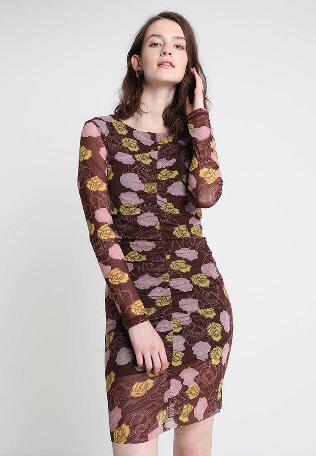 IRI - Etuikleid - brown/pink/yellow