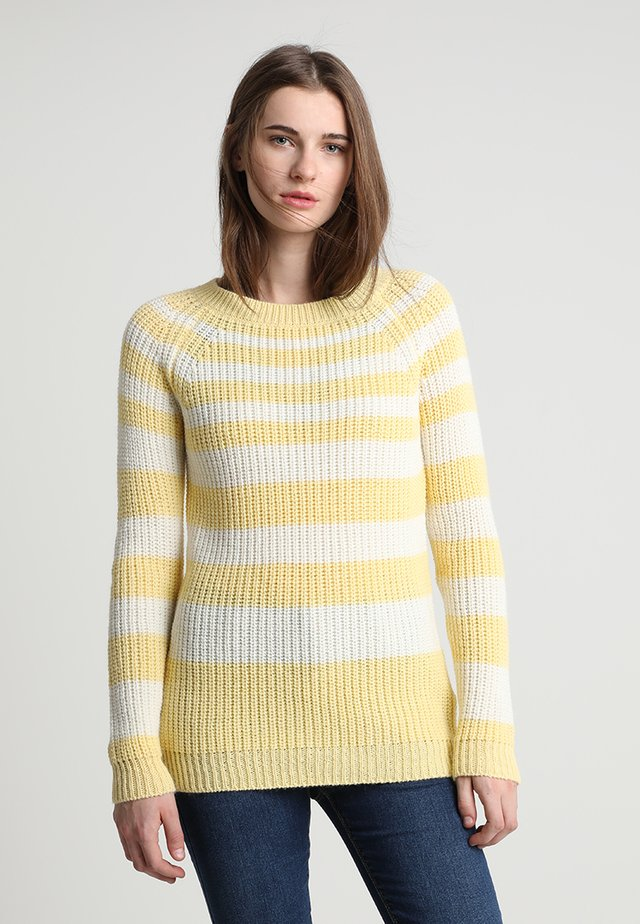 AIA - Strikpullover /Striktrøjer - yellow/white