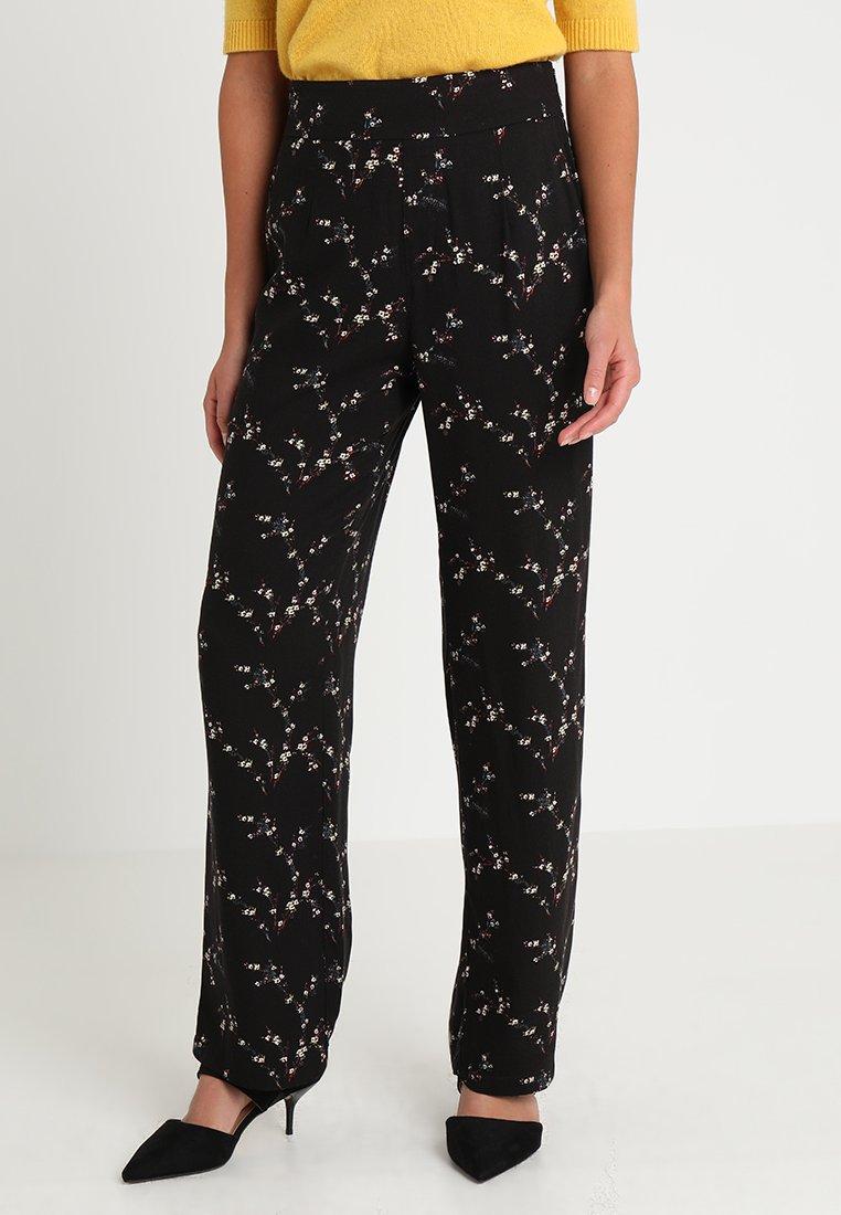 Smash - AURI - Spodnie materiałowe - black