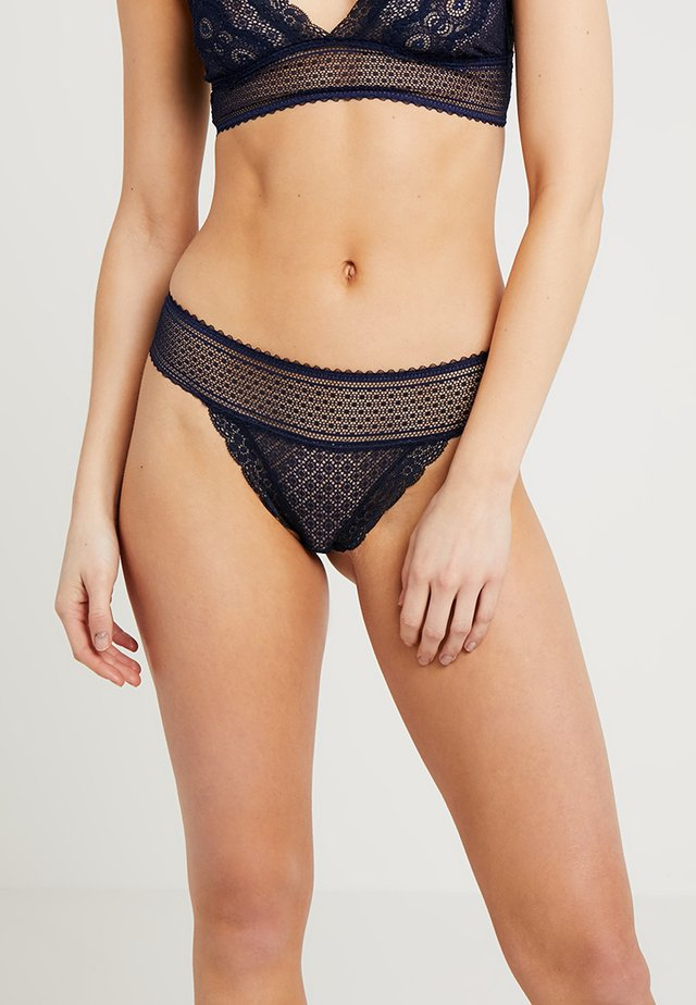 KATIE KISSING THONG - Thong - navy