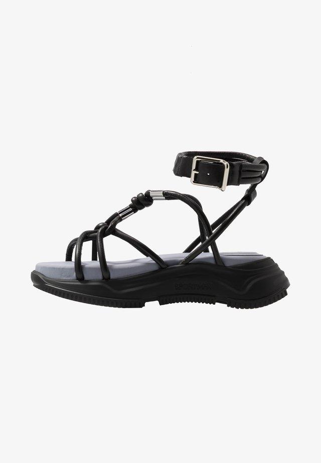 DIRETTA - Sandalen met plateauzool - nero