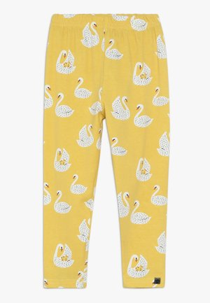 WITH SWANS - Leggings - Trousers - yellow