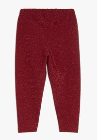 Småfolk - LEGGINGS GLITTER - Leggings - Trousers - dark red - 1