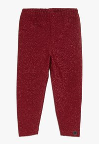 Småfolk - LEGGINGS GLITTER - Leggings - Trousers - dark red - 0
