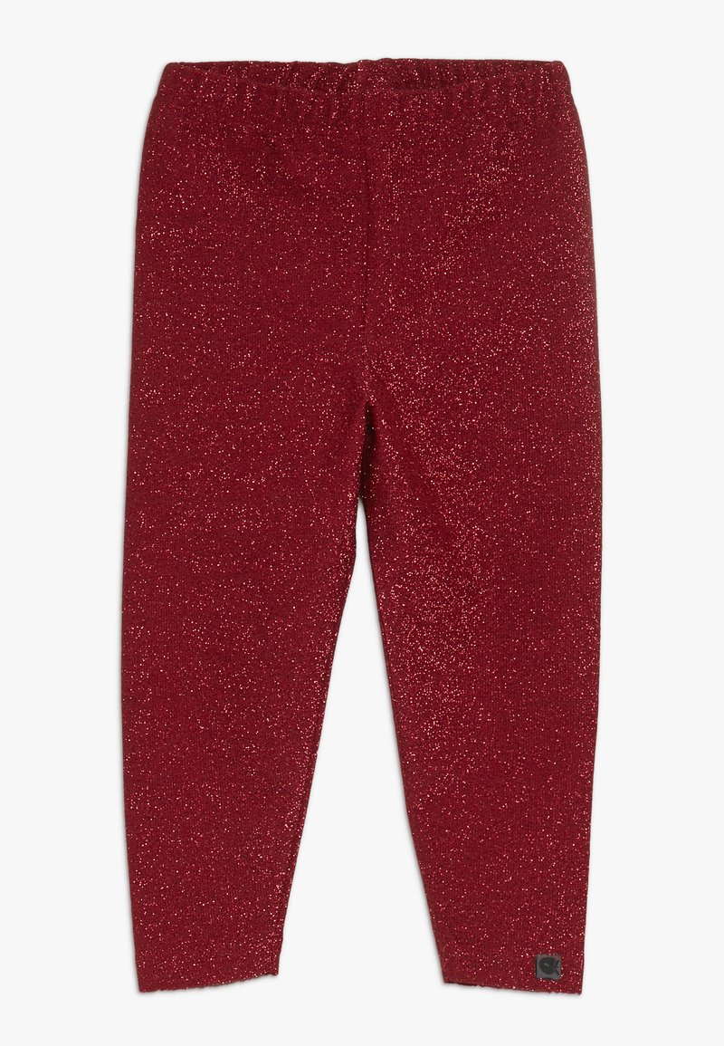 Småfolk - LEGGINGS GLITTER - Leggings - Trousers - dark red