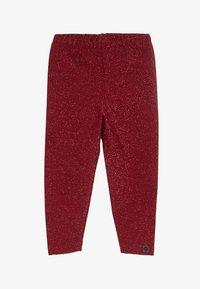 Småfolk - LEGGINGS GLITTER - Leggings - Trousers - dark red - 2