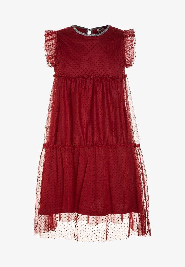DRESS WITH DOT - Cocktailjurk - dark red