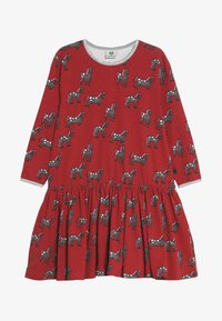 Småfolk - DRESS WITH HORSES - Jersey dress - dark red