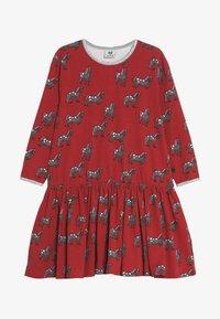 Småfolk - DRESS WITH HORSES - Jerseykleid - dark red - 2