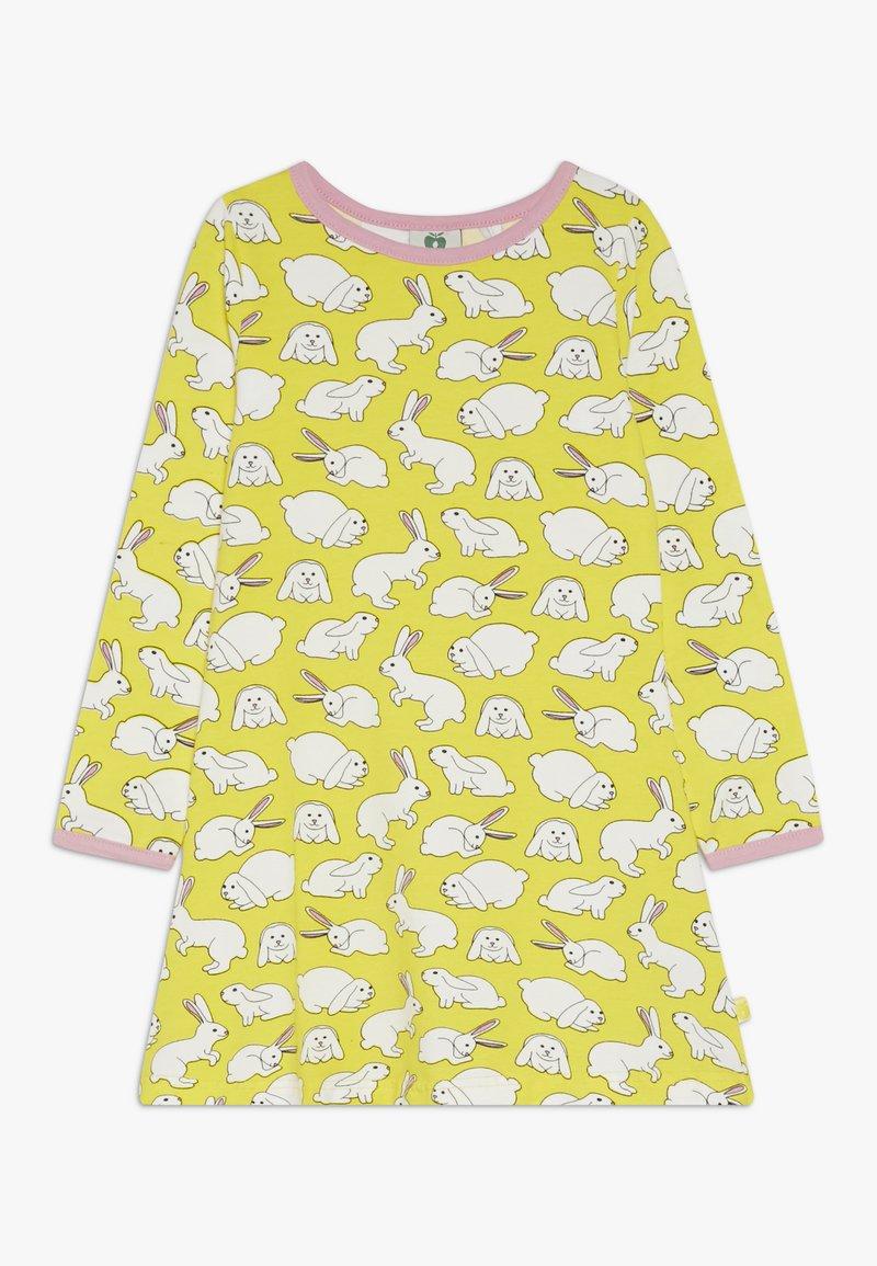 Småfolk - DRESS RABBIT - Žerzejové šaty - yellow