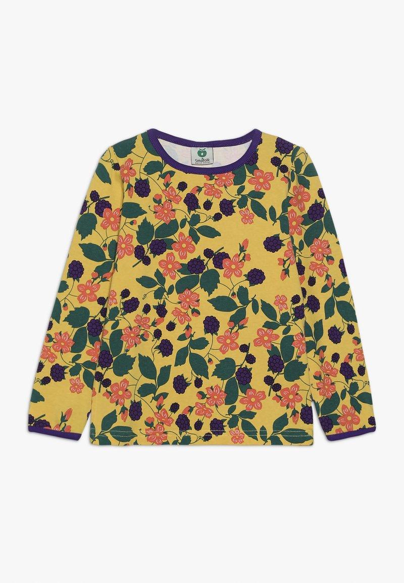 Småfolk - WITH FLOWERS - Long sleeved top - ochre