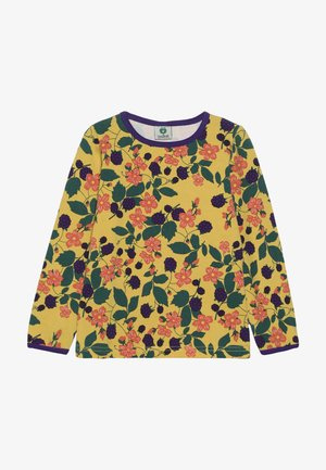 WITH FLOWERS - Long sleeved top - ochre