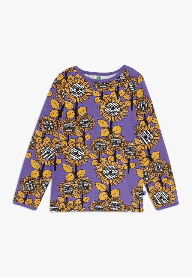 SUN FLOWERS - Top sdlouhým rukávem - purple heart