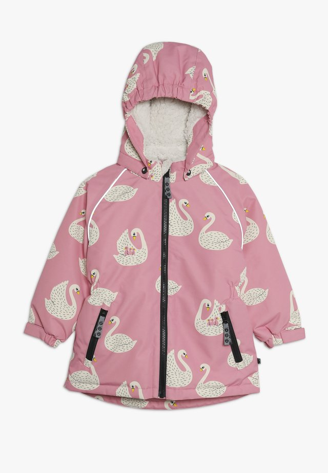 JACKET FOR GIRL WITH SWAN - Winter coat - pink