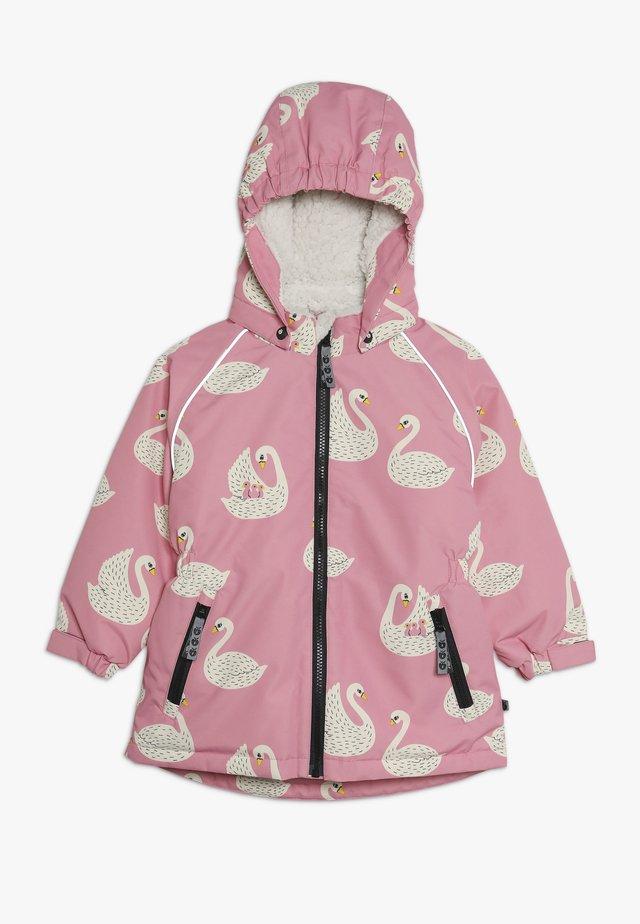 JACKET FOR GIRL WITH SWAN - Płaszcz zimowy - pink