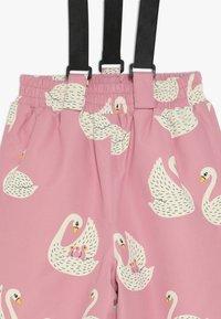 Småfolk - WINTER PANTS WITH SWAN - Skibukser - winter pink - 5