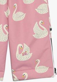 Småfolk - WINTER PANTS WITH SWAN - Skibukser - winter pink - 3