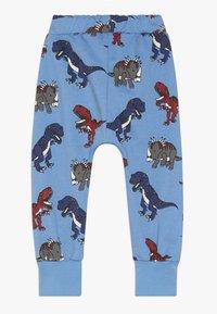Småfolk - PANTS WITH DINOSAURS - Pantalon de survêtement - winter blue - 1