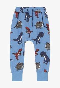 Småfolk - PANTS WITH DINOSAURS - Pantalon de survêtement - winter blue - 2